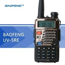 Baofeng UV-5RE двухканальные рации UV-5R обновленная версия UHF VHF двойной часы UV 5RE CB радио VOX FM трансивер для Охота радио