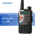 Versão atualizada baofeng uv-5r uv-5re walkie talkie uhf vhf dupla relógio UV 6R CB Radio Transceiver VOX FM para a Caça rádio