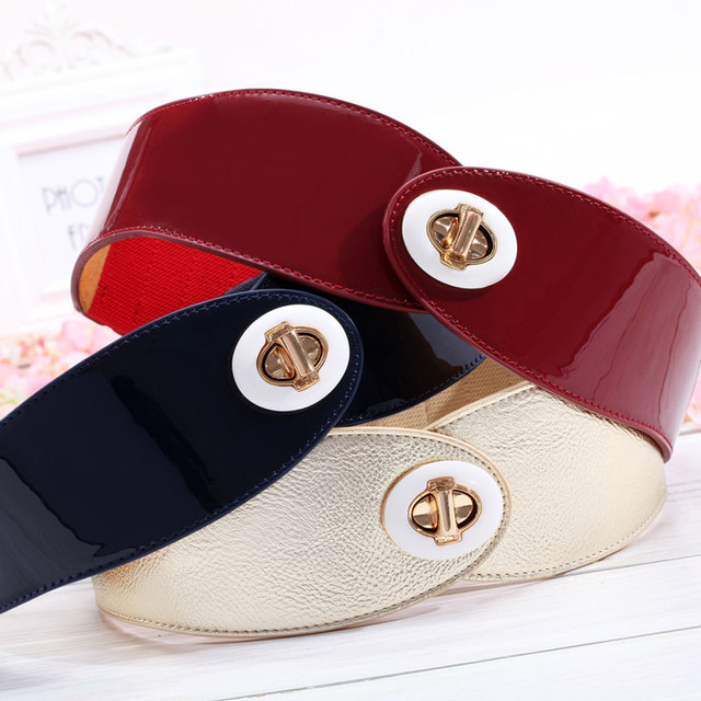New Fashion Wide Genuine leather belt woman gold color belts women Top quality strap female Elastic Belts Cummerbund 5