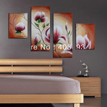 MODERN ABSTRACT HUGE WALL ART OIL PAINTING ON CANVAS very nice flower  free shipping