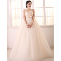 Vintage Wedding 2015 New Fashionable Vestido Noiva Dress Bride Woman High Quality Tube Top Wedding Dress