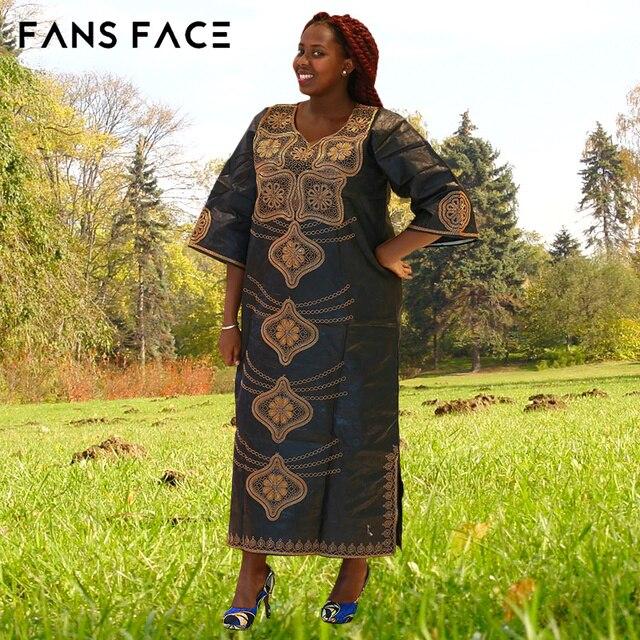 Традиционные женские Плюс Размер Африканских Одежды Модельер 100% Хлопок Dashiki Вышивка Печати Свадебные Африканские одежды