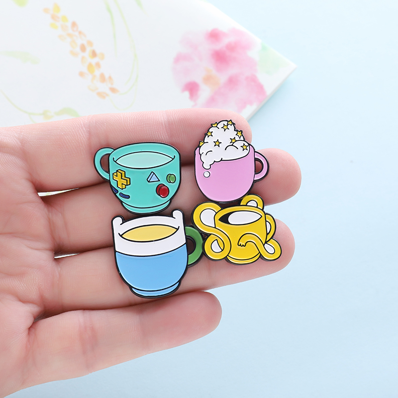 Cup pins Magic Fairy Tale Game Element Design Brooches Badges Cartoon Enamel Backpack pins For Children Gifts Jewelry wholesale image