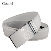 Goebel Men Belts Business Split Leather Automatic Buckle Man Fashion Belt Casual All Match Male Designer Belts High Quality