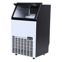 (Ship from USA) 45kg Commercial Ice Maker Machine tea party ice cream shop Cube Stainless Steel Bar Restaurant Automatic