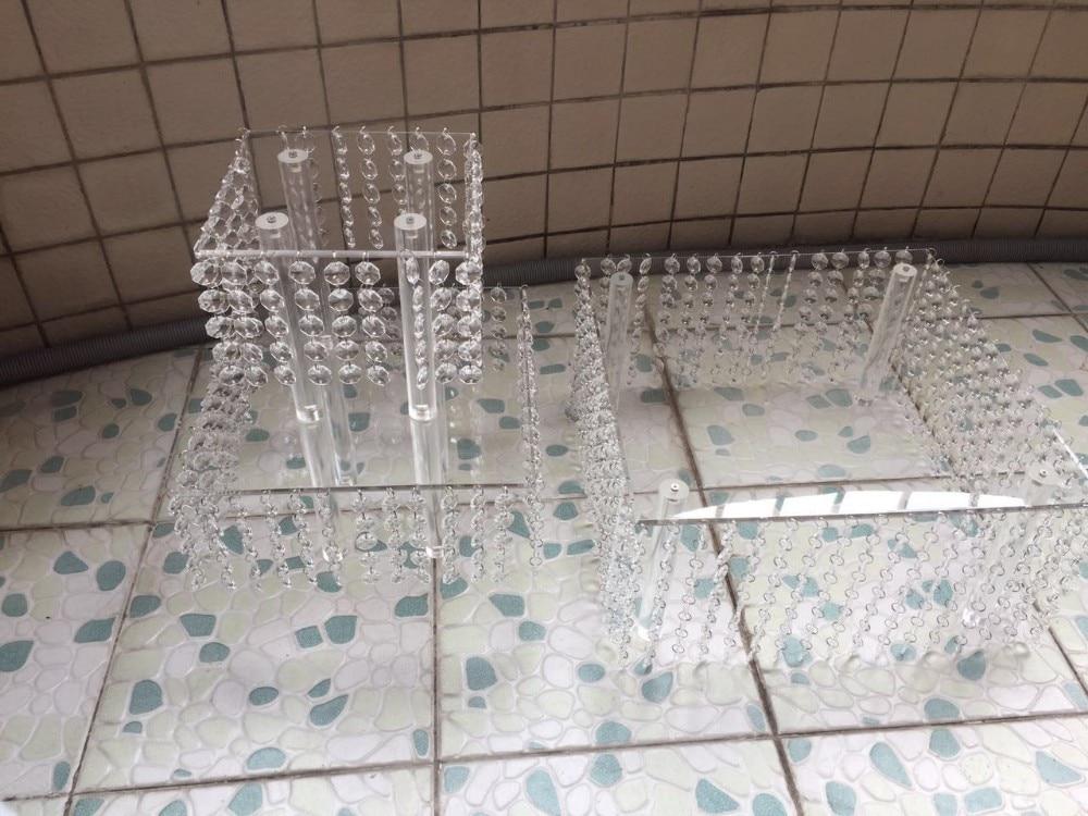 Mode kristall acryl hochzeit hoch tortenständer dessert tisch - Partyartikel und Dekoration - Foto 4
