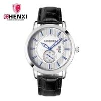 CHENXI Men Brand Business Watches Genuine Leather Minimalism Man Watches Dress Quartz Watch Unique Calendar Male