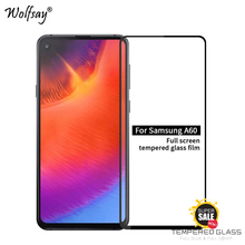 2PCS Full Glue Cover Glass For Samsung Galaxy A60 Screen Protector Tempered Film <