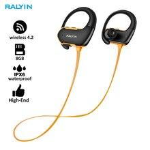 цена на Fashion Outdoor IPX6 Waterproof MP3 Player Sport MP3 Headphone HiFi Music 8G Memory Bluetooth earphone headsets Running Earphone