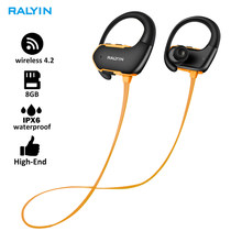 Fashion Outdoor IPX6 Waterproof MP3 Player Sport MP3 Headphone HiFi Music 8G Memory Bluetooth earphone headsets Running Earphone(China)