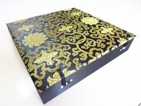 High End Large 9 Grid Soft Wood Watch Storage Box Slots Stone Collection Box Silk brocade Mens Jewelry Box Christmas Gift