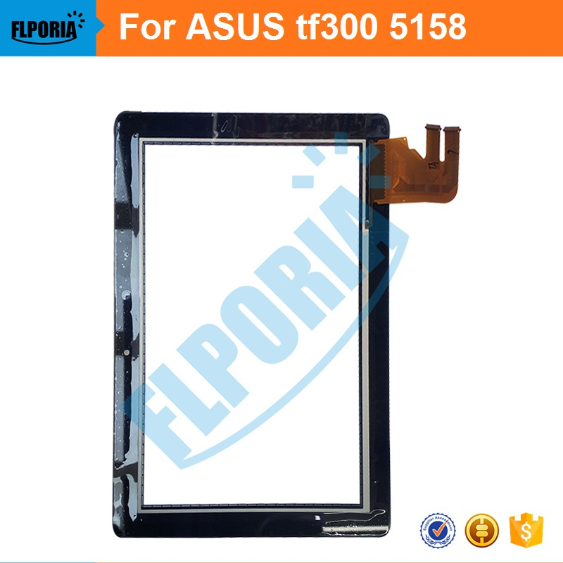Tablet Touch Panel 10.1'' Inch For ASUS TF300 5158 Touch Screen Digitizer Front Glass with Flex Cable Assembly 100% New tablet touch panel 10 1 inch for asus me302 touch screen digitizer front glass with flex cable assembly 100% new