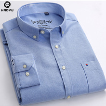 HAOYU 2017 Autumn New Arrival Men Shirt Colorful Casual Design Oxford Long Sleeve Brand Clothing Comfortable