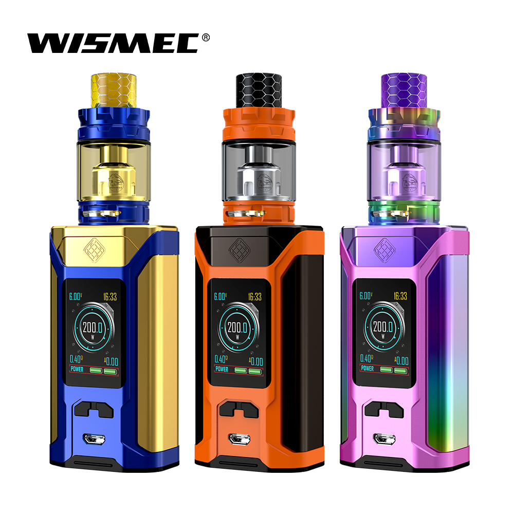 Original Wismec SINUOUS RAVAGE230 with GNOME King atomizer with WM01 Single 0.4ohm Head / WM-M 0.15ohm Head electronic cigs vapeOriginal Wismec SINUOUS RAVAGE230 with GNOME King atomizer with WM01 Single 0.4ohm Head / WM-M 0.15ohm Head electronic cigs vape