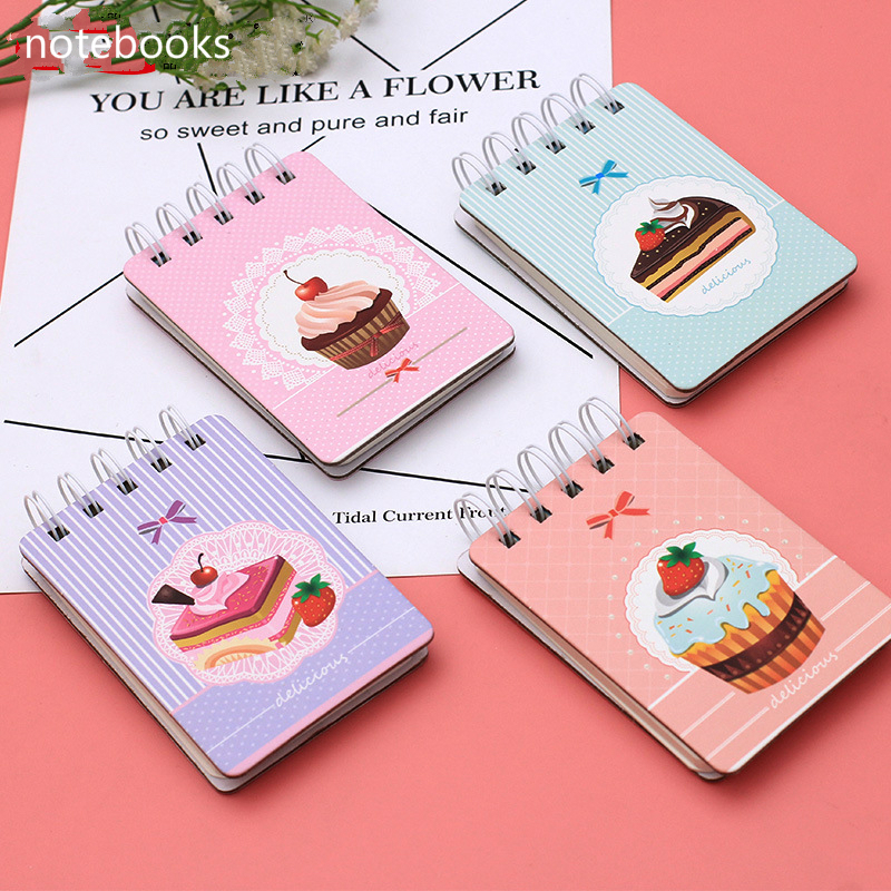 Coloffice cute beautiful portable memo pads pocket coil notebook student study notes mini notebooks students prize children gift