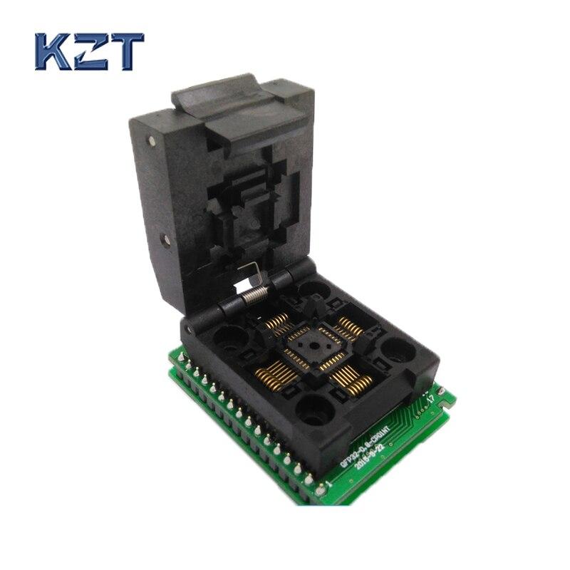 QFP socket Programador Pin Passo 0.8mm Adaptador de Tomada de Teste IC Tamanho Do Corpo 7x7mm Apoio TL866A TL866CS para DIP32 SMT/SMD Soquete De Teste