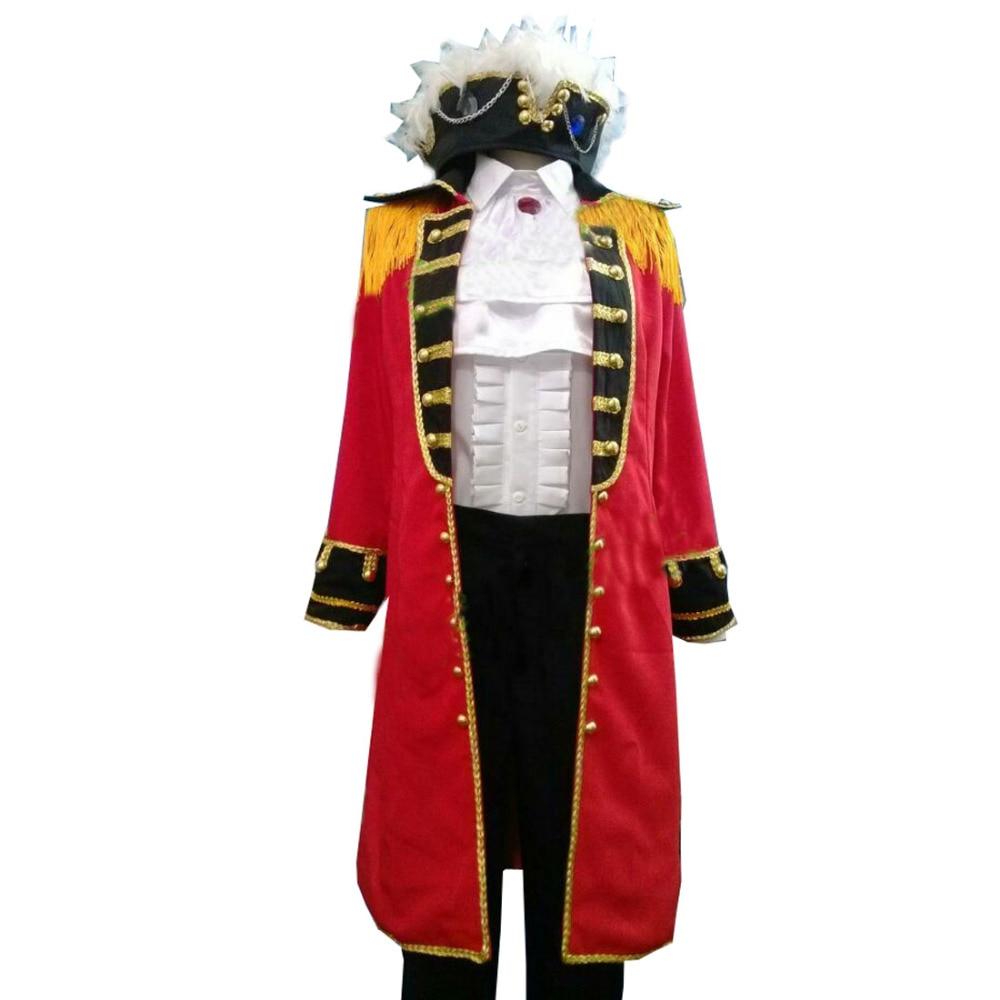 Axis Powers APH England Britain Arthur Kirkland Pirate Cosplay Costume Hetalia
