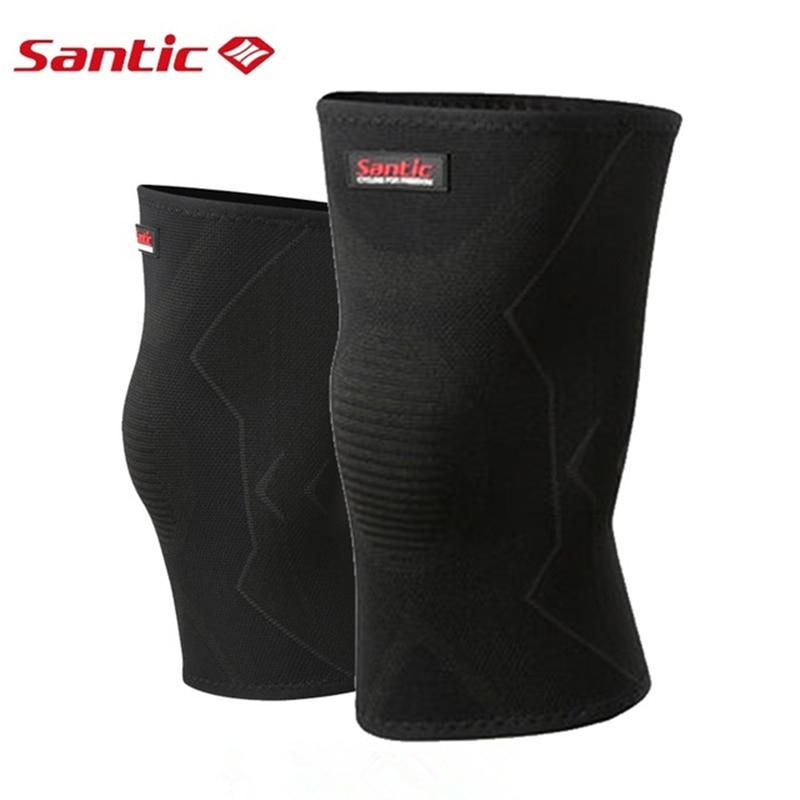 SANTIC Cycling Leg Warmers Knee Protector High Elasticity Bike Knee Guard Men Women Riding Hiking Climbing Sports Knee Sleeve