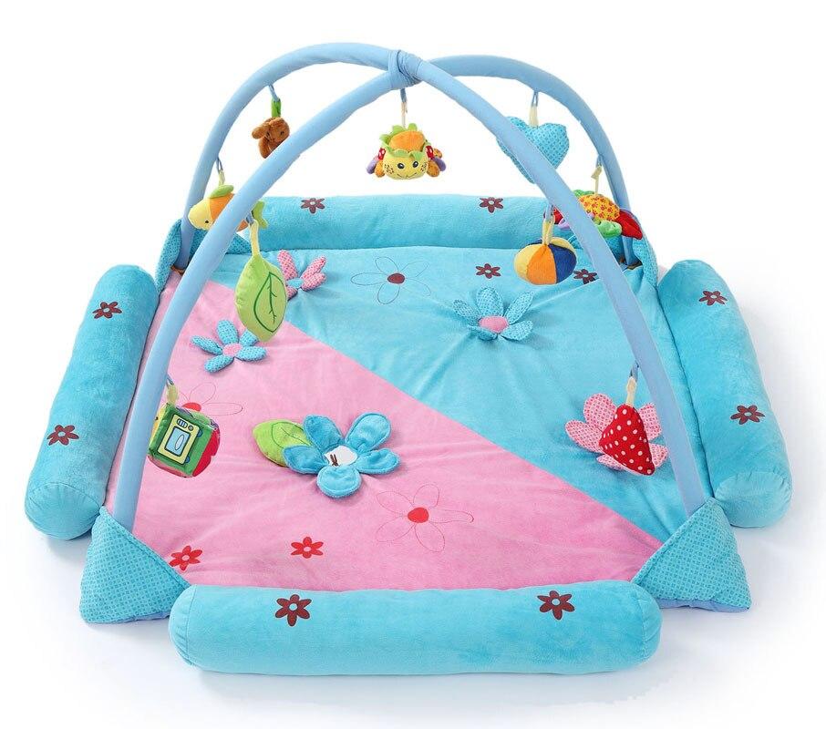 Doux bébé tapis de jeu enfants musique tapis de jeu jouets éducatifs tapis bébé ramper Pad pliant Fitness Bracket0-2 ans jumeaux jouets