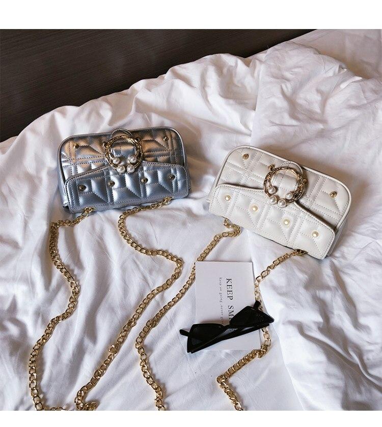 Sacchetto Per Crossbody 2019 Della Silver Di Lembo An1231 Classic Borse Bolsas Donne black Elaborazione Cuoio Delle Piccolo Signora Perla Messenger Del beige Dell'unità Studs Femmina Hot La Bag qxw0q