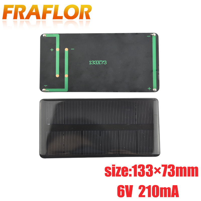 Fraflor 6V 210mA Solar Charging Fast Charger 5pcs Durable Frosted Glass Plate Battery Charger Travel Solar For Pc Phone Camera