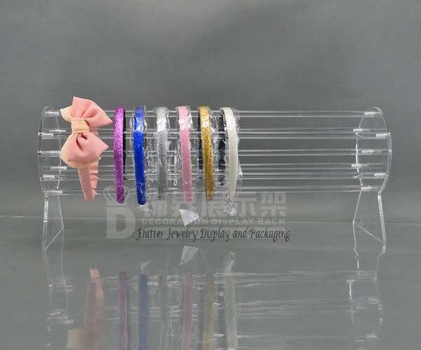 工場 Directselling 50 センチメートルロングアクリル帽子ディスプレイスタンドヘッドバンド表示ラックヘアアクセサリージュエリーホルダーリムーバブル  グループ上の ジュエリー & アクセサリー からの ジュエリー用包装 & ディスプレイ の中 1