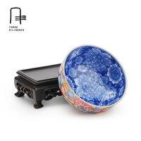 Royal Peint À La Main Porcelaine tasse de thé Bleu-et-blanc Famille Rose Doré kung fu argile tasses à thé en céramique de Jingdezhen chine Verres