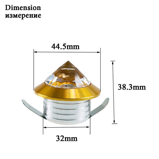 CHINCOLOR Mini Spot lumière cristal diamant armoire Downlights LED plafonnier 110 V 220 V bijoux affichage salle décor blanc chaud Q