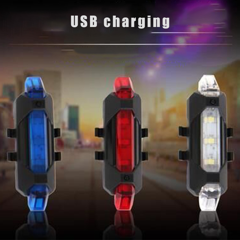 Bike Bicycle Light LED Rechargeable Tail Light USB Rear Tail Warning Safety Bike Light Super Bright Portable Flash Light(China)