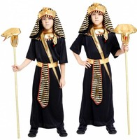 Fantasia Children`s Egyptian Pharaoh Cosplay Halloween Costume For Kids Boys Ancient Egypt King Costume Fancy Dress Party Outfit