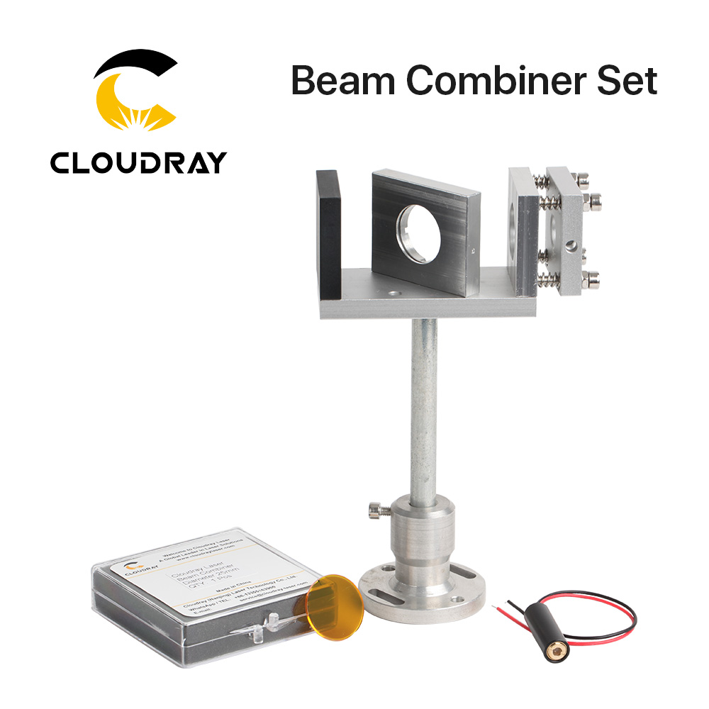 Cloudray Beam Combiner Set 20 25mm ZnSe Laser Beam Combiner Mount Laser Pointer for CO2 Laser