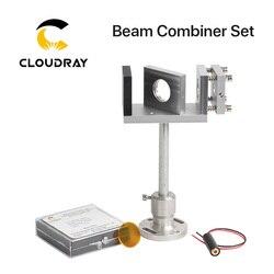 Cloudray Beam Combiner Set 20/25mm ZnSe Laserstraal Combiner + Mount + Laser Pointer voor CO2 Laser graveren Snijmachine