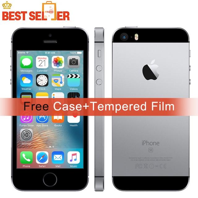 Original Unlocked Apple iPhone SE A1662 4G LTE Mobile Phones 2GB RAM 16GB/32GB/64GB ROM iOS Fingerprint Touch ID NFC Smartphone