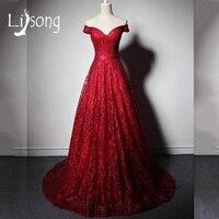 Elegante High End Abendkleid Lange Burgund Schulterfrei Frauen Formale Kleid Kleid vestido de festa longo abendkleider