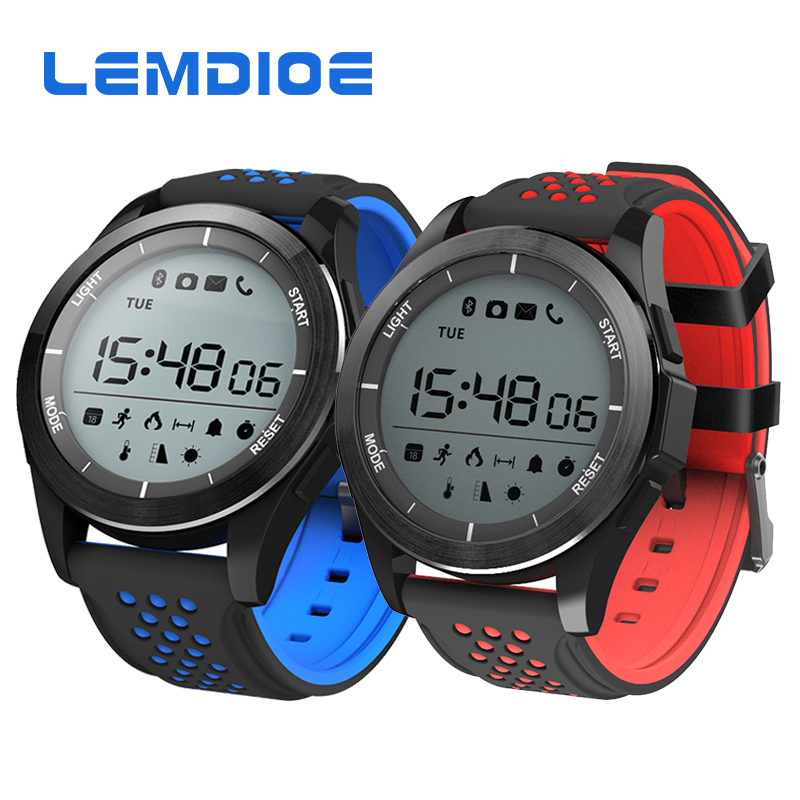 LEMDIOE F3 Smart Band IP68 Waterproof Sports Smartwatch Activity Tracker Fitness bracelet with Pedometer Altimeter Barometer