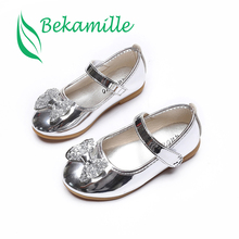 Summer Female Child Leather Sandals Girl Sweet Princess Shoe