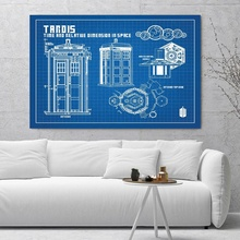 Buy doctor who tardis decorations and get free shipping on blingird doctor who tardis blueprint graphic silk posters malvernweather Images