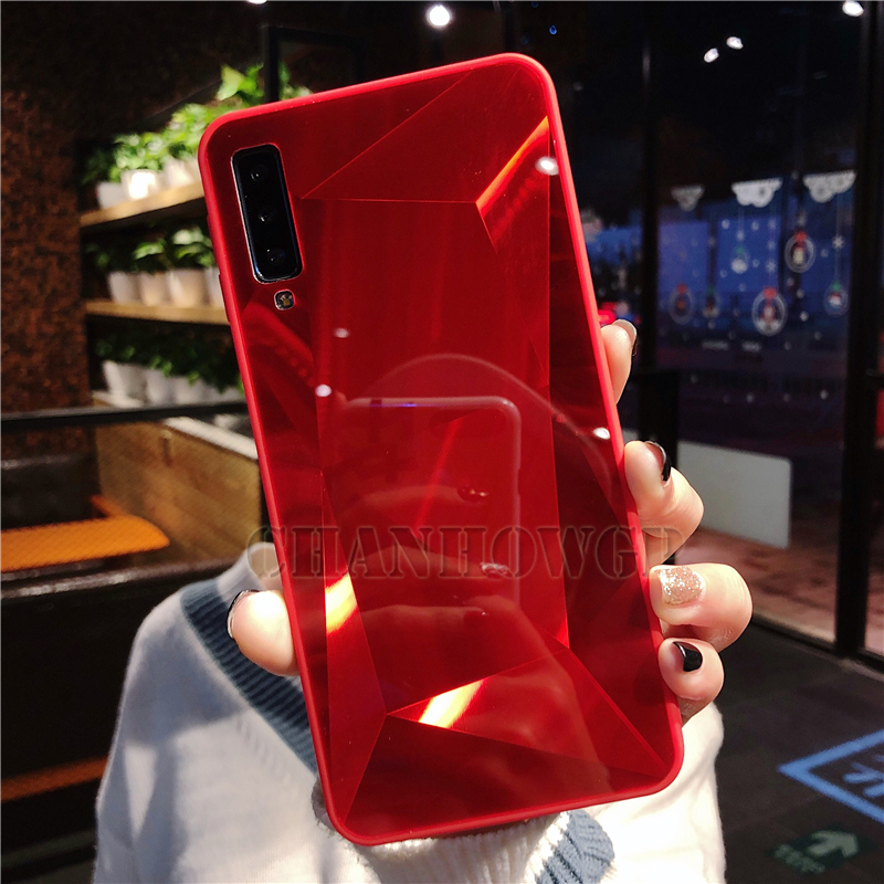 Diamond Mirror Case For Samsung Galaxy A70 A50 A30 A10 M30 M20 M10 S10 S10e S8 S9 A9 A7 A8 J4 J6 J8 Plus 2018 Note9 Soft Cover