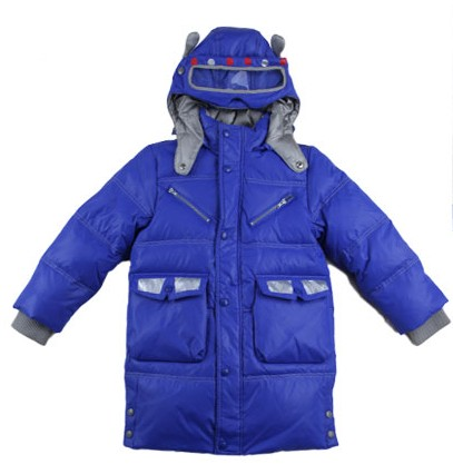 Sun and Moon Tong children of God in down jacket and long sections cartoon car models