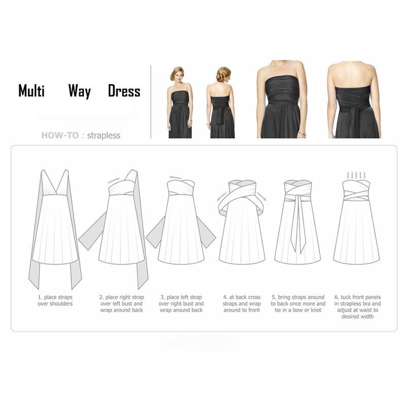 Sexy Long Dress Bridesmaid Formal Multi Way Wrap Convertible Infinity Maxi Dress Navy Blue Hollow Out Party Bandage Vestidos 35