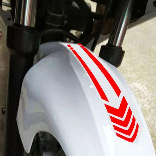 العالمي للدراجات النارية ملصقات عاكسة عجلة على درابزين مقاوم للماء السلامة تحذير السهم الشريط سيارة الشارات التصميم اكسسوارات جديد