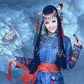 Tradicional de Las Mujeres Hanfu Traje Chino Antiguo Traje Hermosa Danza Princesa Ópera China Hanfu Dinastía Tang Vestido de Azul