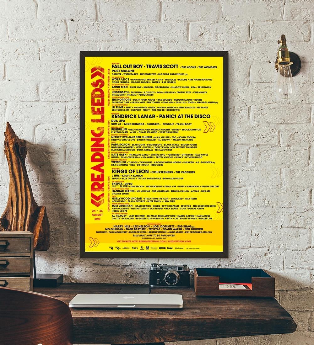 Reading And Leeds Music Festival 2018 Music Stars Art Print Poster ...