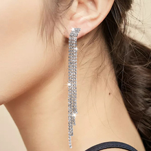 L&H Luxury Fashion Dangle Earrings For Women Elegant Shine Rhinestone Drop Wedding Party Jewelry Trend 2019