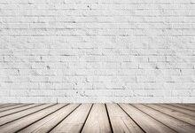 Laeacco Branco Piso De Madeira Da Parede de Tijolo Retrato Backdrops Para Estúdio de Fotografia Fotografia Fundos Fotográficos Personalizados