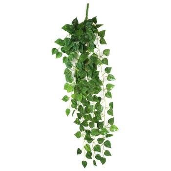 الأخضر الاصطناعي وهمية شنقا كرمة أوراق النبات جارلاند الرئيسية حديقة جدار لوازم الديكور 90x4 cm