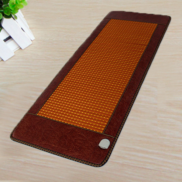 Best Selling Natural Tourmaline Heating Mat Jade health care pad infrared heat cushion! Size:50*150CM Free shipping 2017 new natural jade germanium tourmaline stones infrared heating mat natural jade facial beauty massage tool jade roller