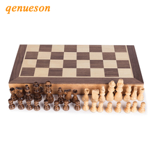 Top grade Performance Magnetic Folding Wooden Chess Set Solid Wood Chessboard 2.2/3.0inch Pieces Entertainment Board Games