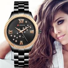 hot deal buy curren  womens watches top brand luxury watch women quartz watch waterproof  steel ladies dress ladies watch montre femme