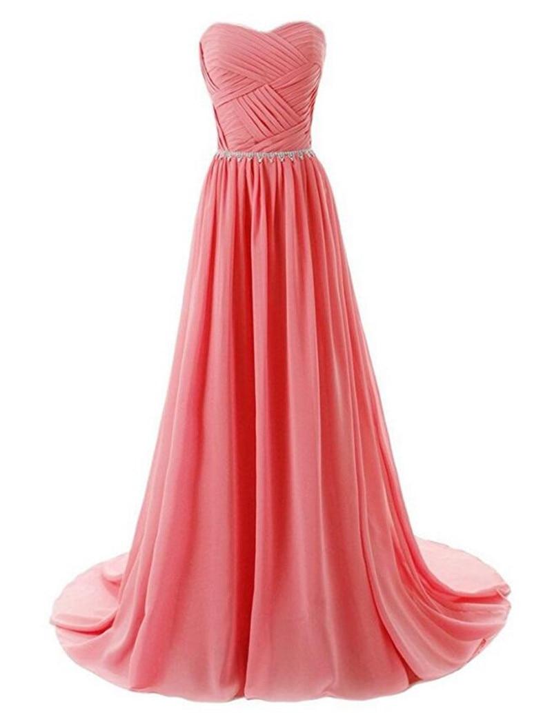 Gardlilac Chiffon Bridesmaid Dress Long Plus Size Sweetheart Beading ...